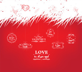 valentine card with greeting