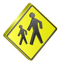 Children crossing street sign
