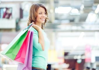 Shopper in the mall