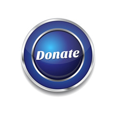 Donate Blue Vector Icon Button