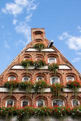 Hausfassade in Lüneburg, Deutschland