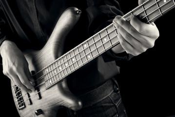 jazz bassist vintage photo