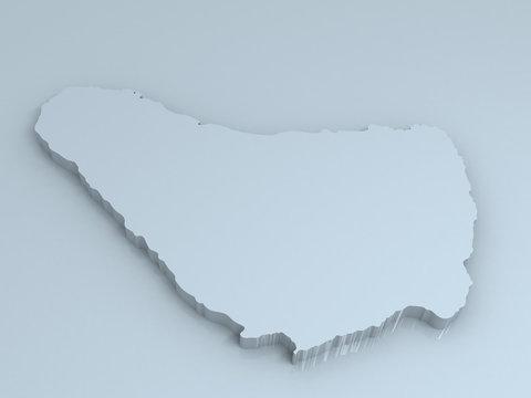 barbados 3D map