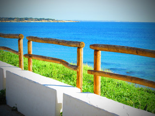 Fence with sea view