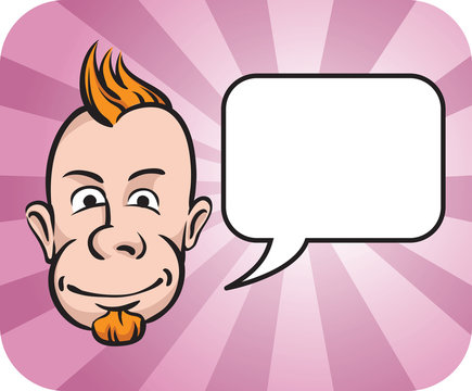 Punk face with speech bubble