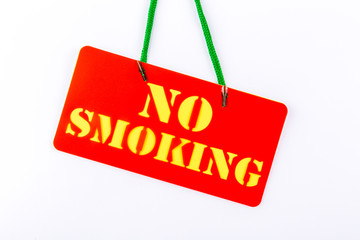 no smoking signboard on white background.