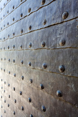 detail of medieval gate door