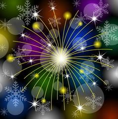festive banger on a bright background