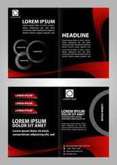 Modern style brochure template design with new design