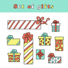 Set of color gifts (vector)