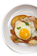 Toasted Sandwich with fried eggs