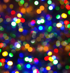 night bokeh lights