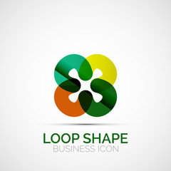 Abstract symmetric business icon