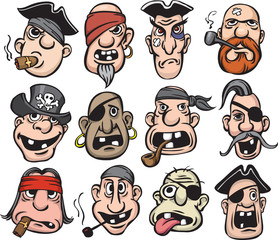 Pirate faces collection