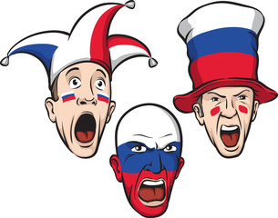 football fans from Russia