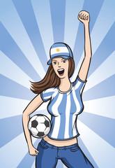 Soccer Argentina Fan Girl