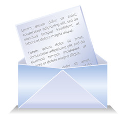 Envelop with letter icon