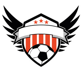 Soccer logo with wings