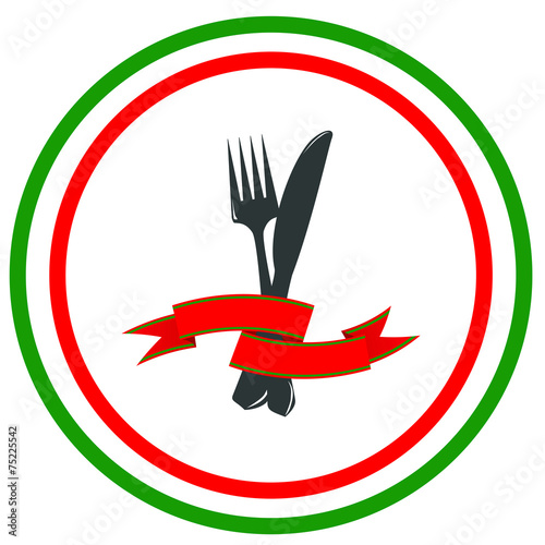 italian menu cover or restaurant logo stock image and royalty free rh fotolia com italian restaurant logos rra italian restaurant logos and names