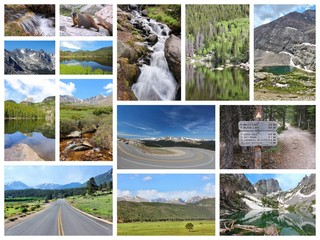 Rocky Mountains collage