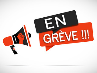 mégaphone : en grève !!!