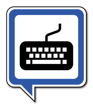 Logo clavier ordinateur.