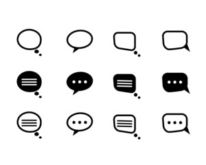 black  and line speech bubble