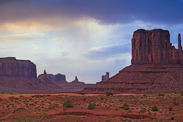 The very Famous and Well-Known Amazing Monument Valley Scene in