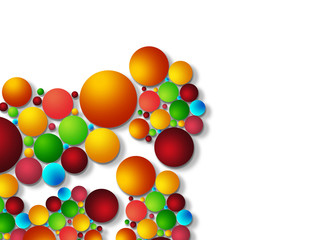 Colorful bubble background..