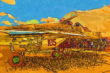 Military airplane speed
