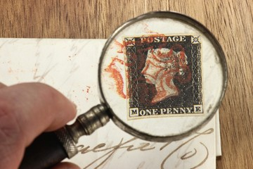 One Penny Black auf Faltbrief