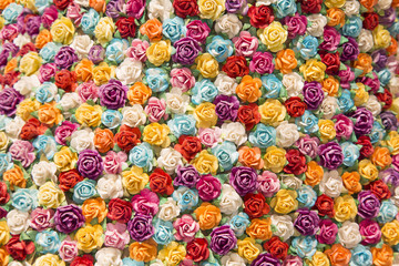 Abstract background of Colorful flowers.