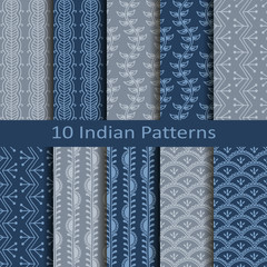 set of ten indian patterns