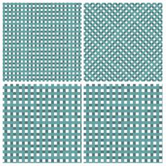 Set of four cross grid pattern