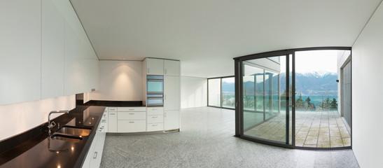Wide apartment, modern kitchen
