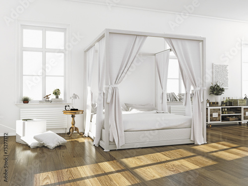 schlafzimmer mit himmelbett stockfotos und lizenzfreie bilder auf bild 75277172. Black Bedroom Furniture Sets. Home Design Ideas