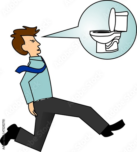 Cartoon Pic Of Man On Toilet