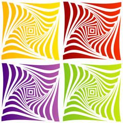 Colorful optical illusion