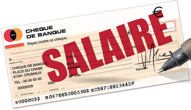 chèque : salaire