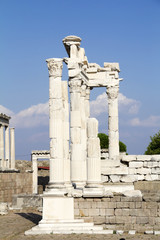 Temple of Trajan in the ancient city of Pergamon,Turkey