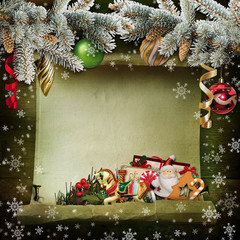Christmas background with beautiful Christmas decorations