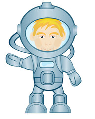 Spaceman in space suit