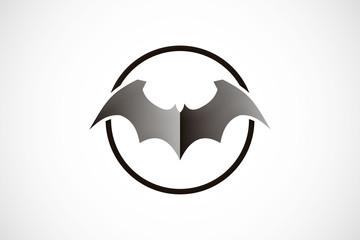bat wing abstract vector logo