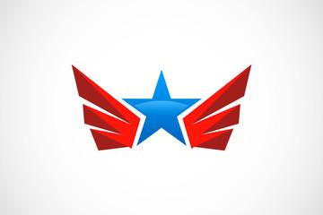 star wing abstract vector logo