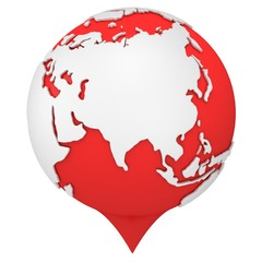 Earth shaped map pointer