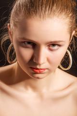 serious angry girl