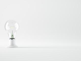 Light bulb, isolated, Realistic photo image