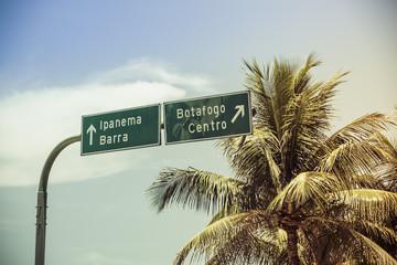 Ipanema Road Sign in Rio de Janeiro-Brazil