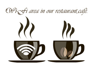 A Cup of coffee with the information of the presence of a