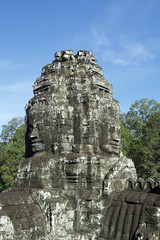 Angkor Wat Temple of Bayon Stone Faces